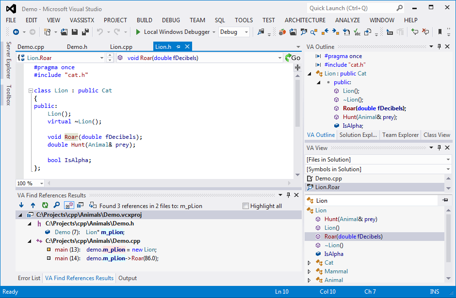 Visual Assist - a Visual Studio extension by Whole Tomato