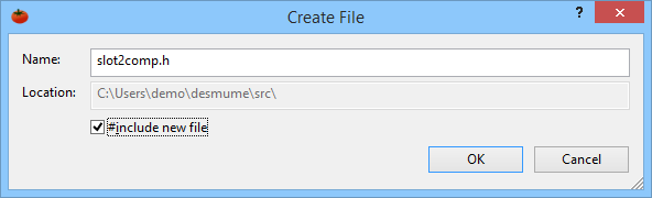 Create files in your project quickly and easily