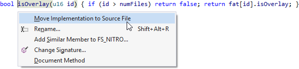 Move Implementation to Source File