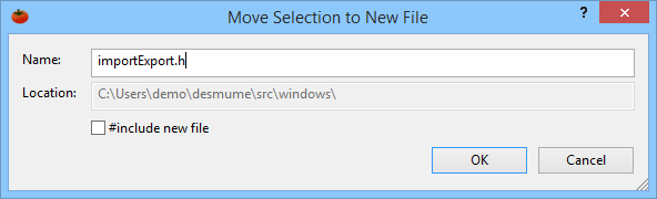 Move code to a new header file or source file