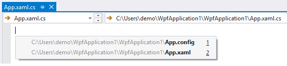 Open corresponding file